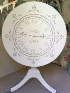 Shabby Chic Furniture Paint Distress And Stencil A Dining Table