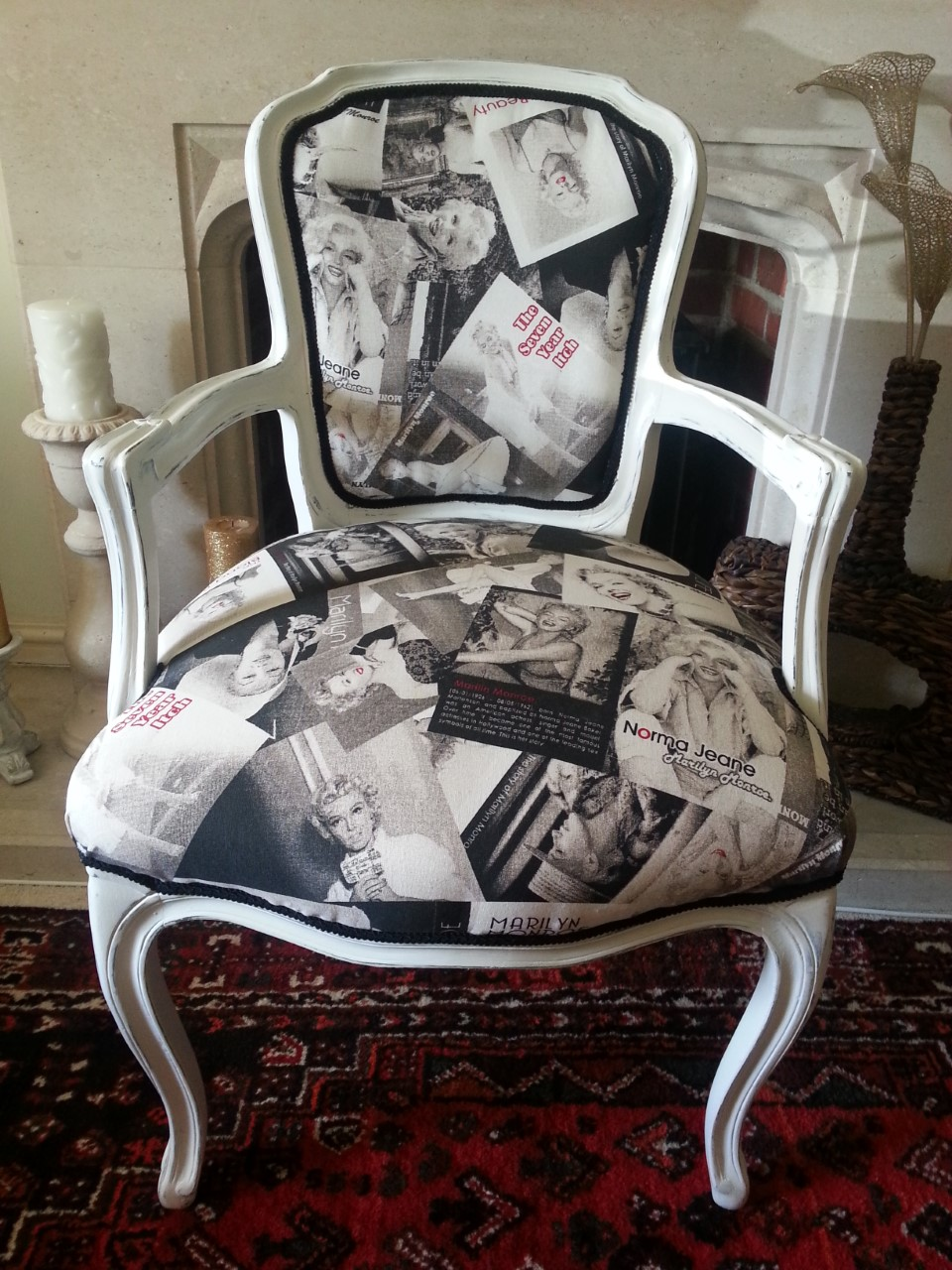 ... Marilyn Monroe louis style chair ... & Shabby Chic Louis Style Chairs: Inspirational Gallery - Sally Baker ...